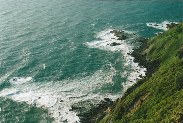権現崎から日本海に落ち込む絶壁