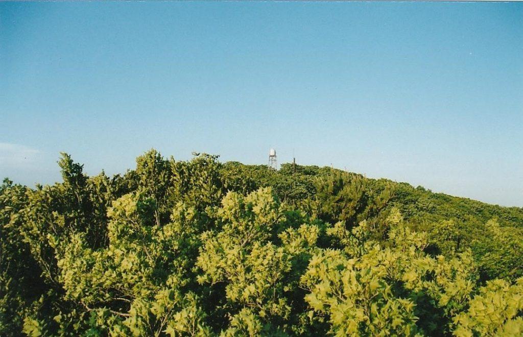 尾崎山山頂の無線アンテナ