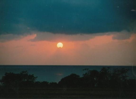 夕映えの館の夕日