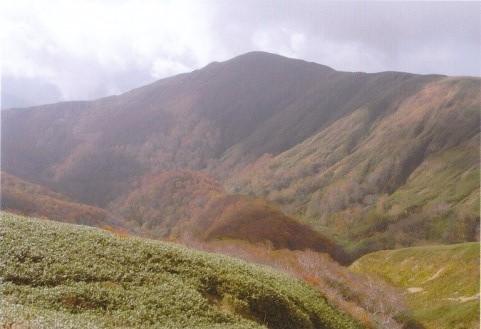 小杉山~辿ってきた薬師岳を望む