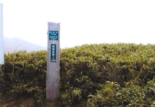薬師岳山頂(1218m)