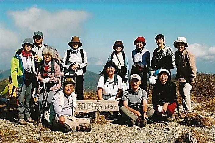 山頂にて全員登頂写真