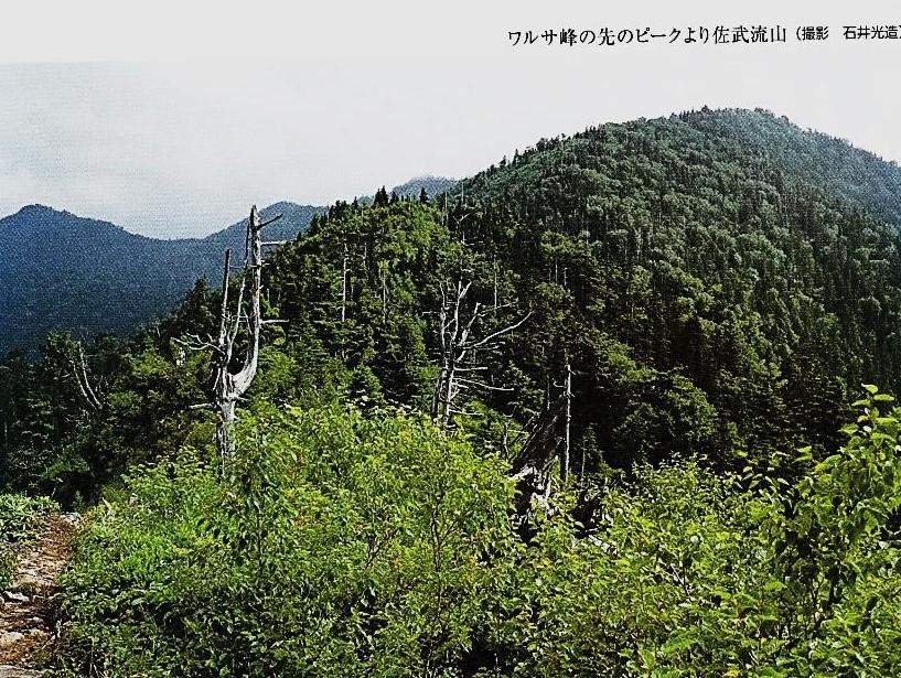 ワルサ峰のピークから佐武流山