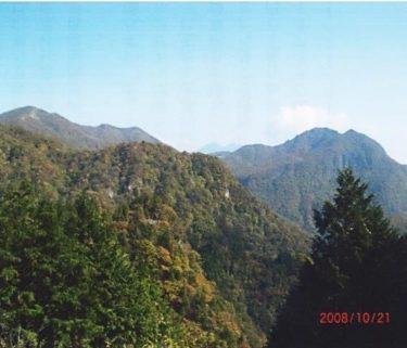 谷文晁の『日本名山図会』に二股山として紹介された~二岐山~(福島)