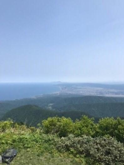 米山山頂から柏崎・佐渡ヶ島方面