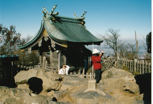 イザナギの尊が祀られている男体山
