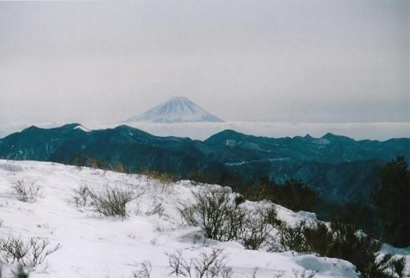 雲海の上に富士山