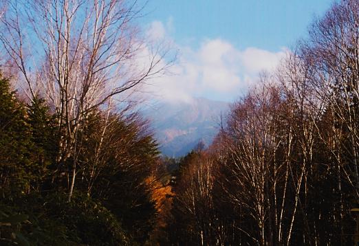 飛騨ブリ街道~御嶽を望む