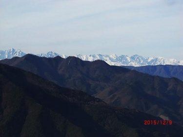 雪を纏う北アルプスの遠景~夫神岳~(長野)