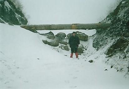 冬季閉鎖された三国峠