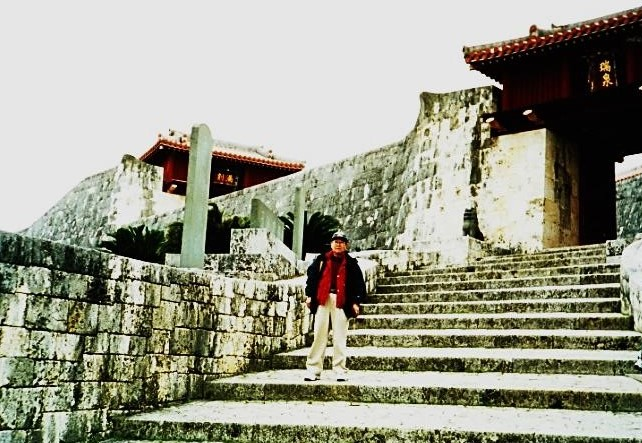 首里城にて