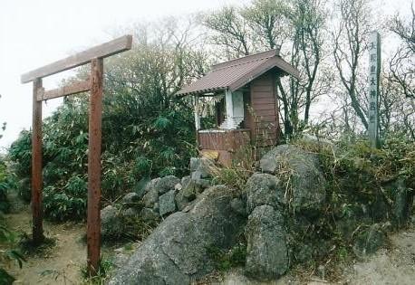山頂に有る天照皇大神宮社
